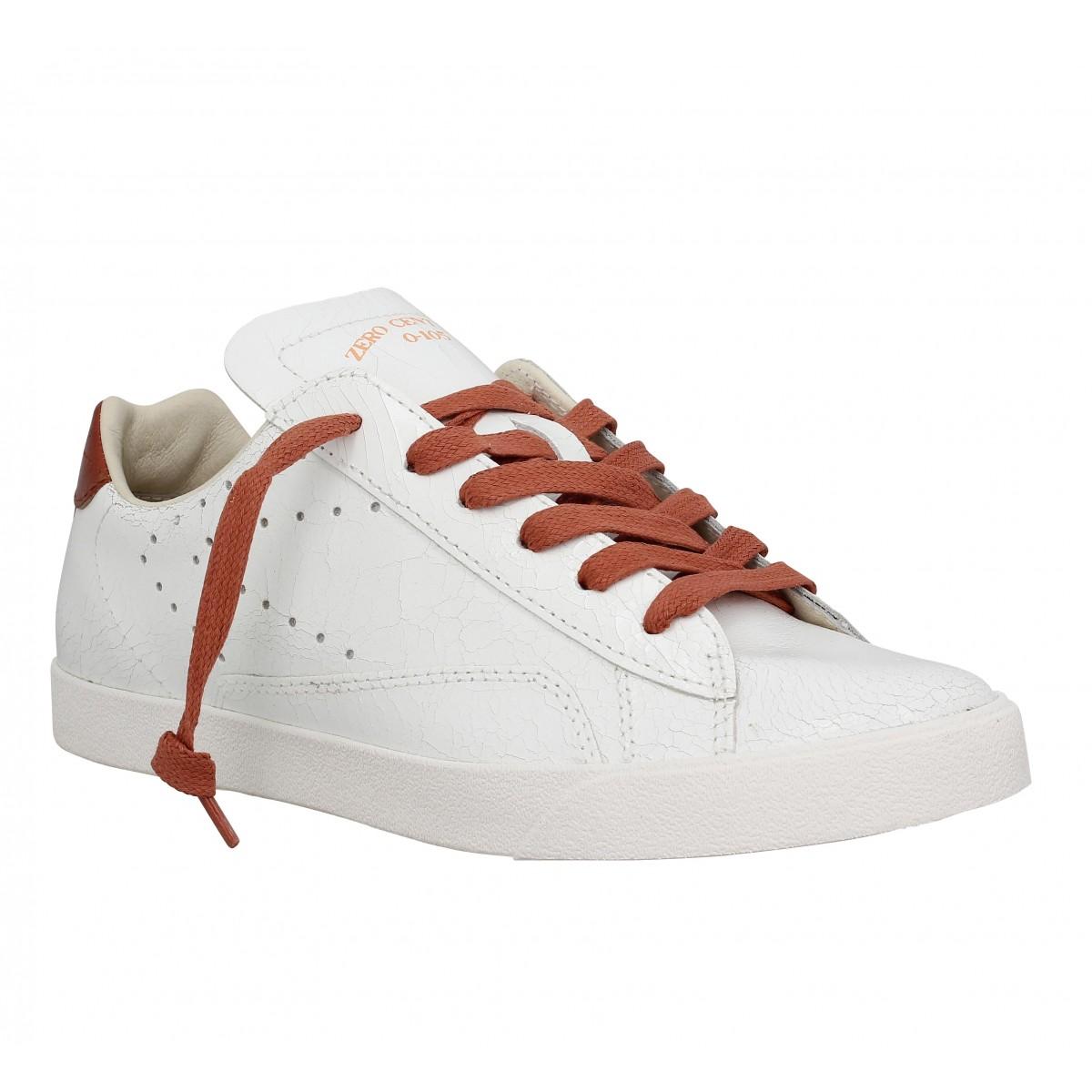 Baskets 0-105 Acsa cuir Femme Blanc