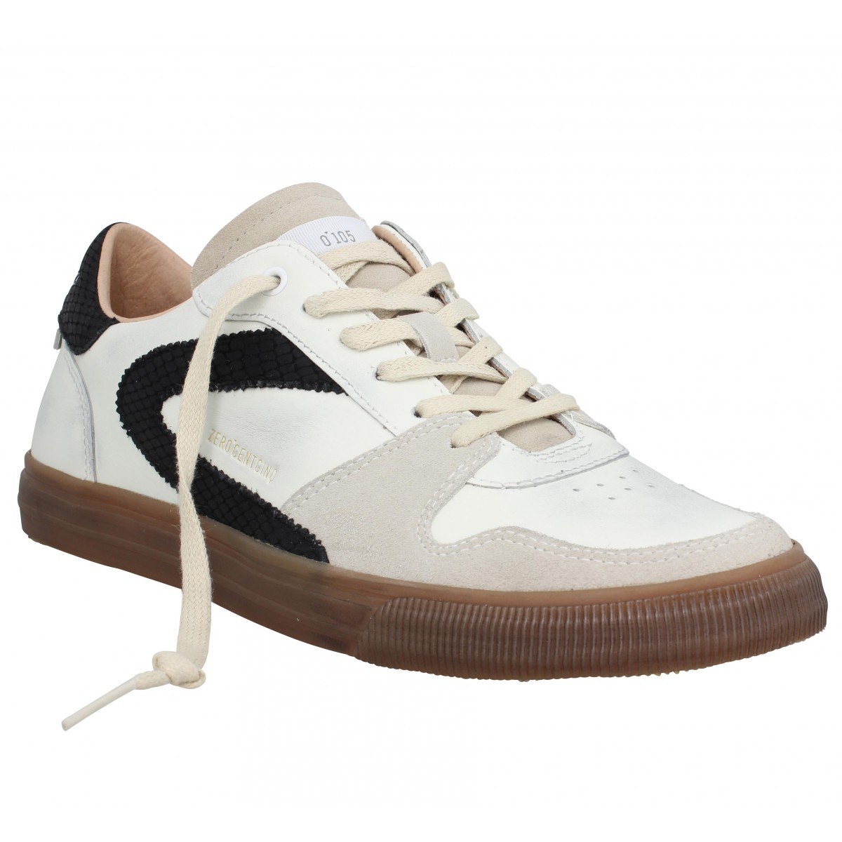 Baskets 0-105 Guillermo cuir Homme Blanc