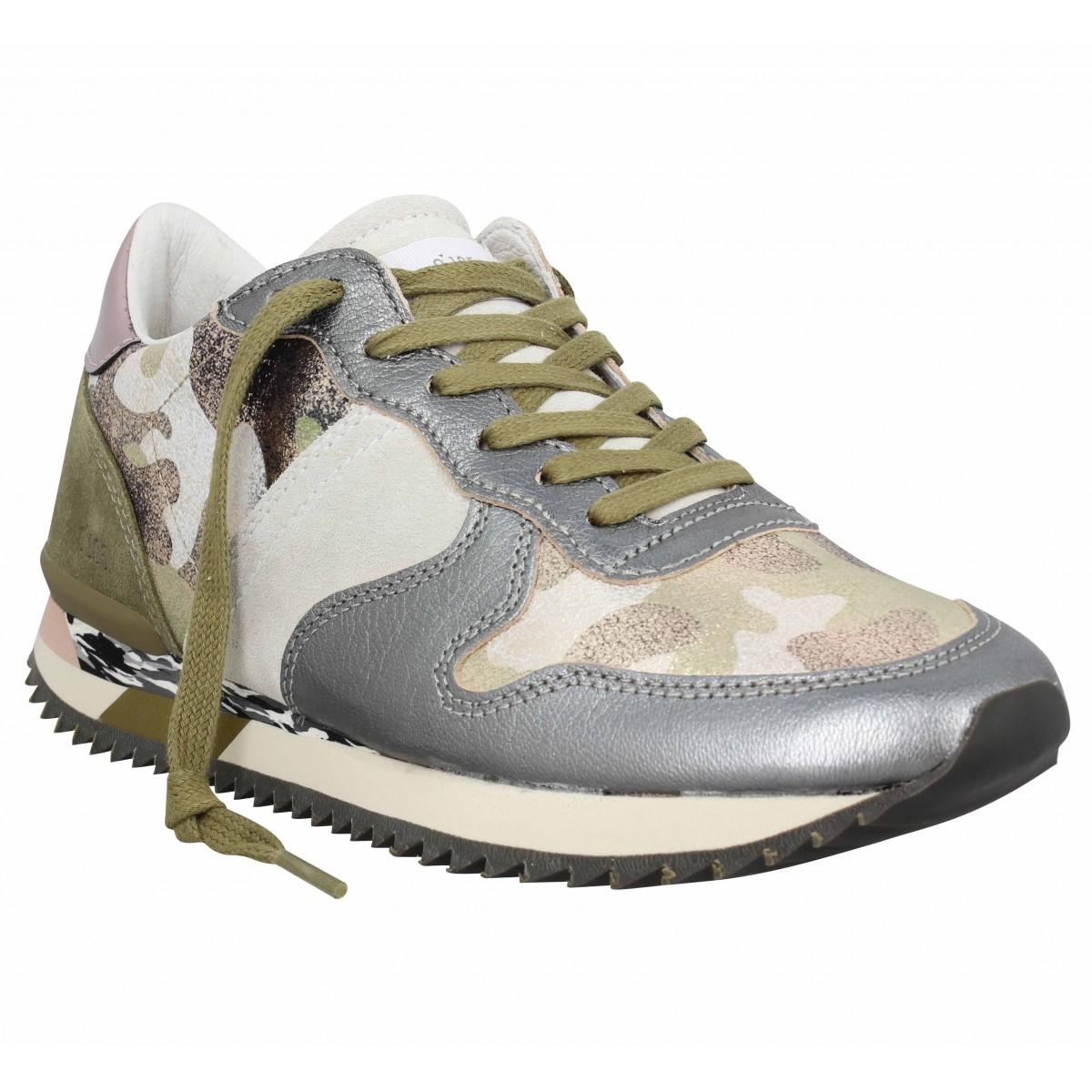 S Camo Chaussures Cuir 105 0 Run Femme Fanny wxE81vEPqn
