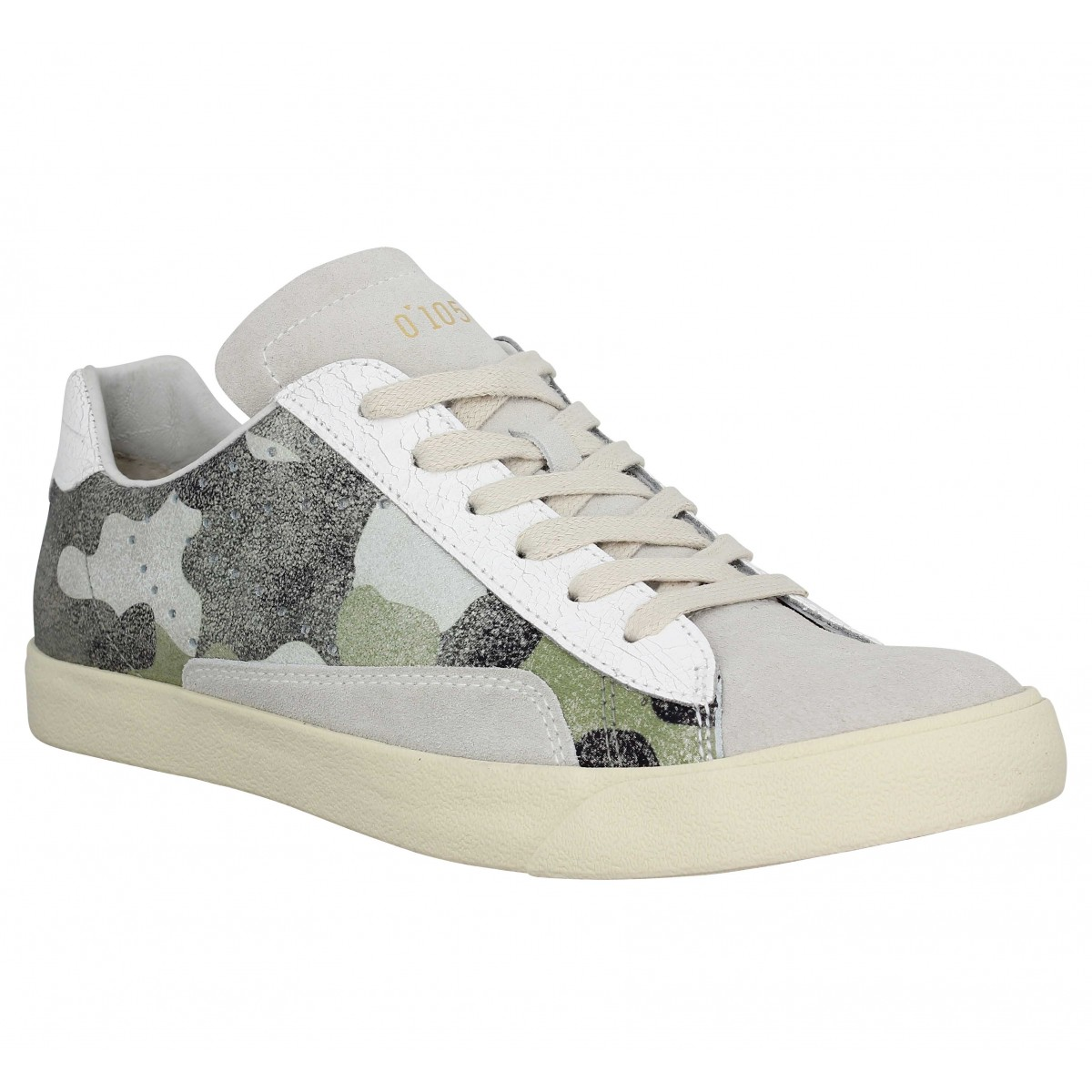 0 105 Stan Chris Cuir Femme Camo Femme | Fanny Chaussures Uoyqkdph-165459-2695245