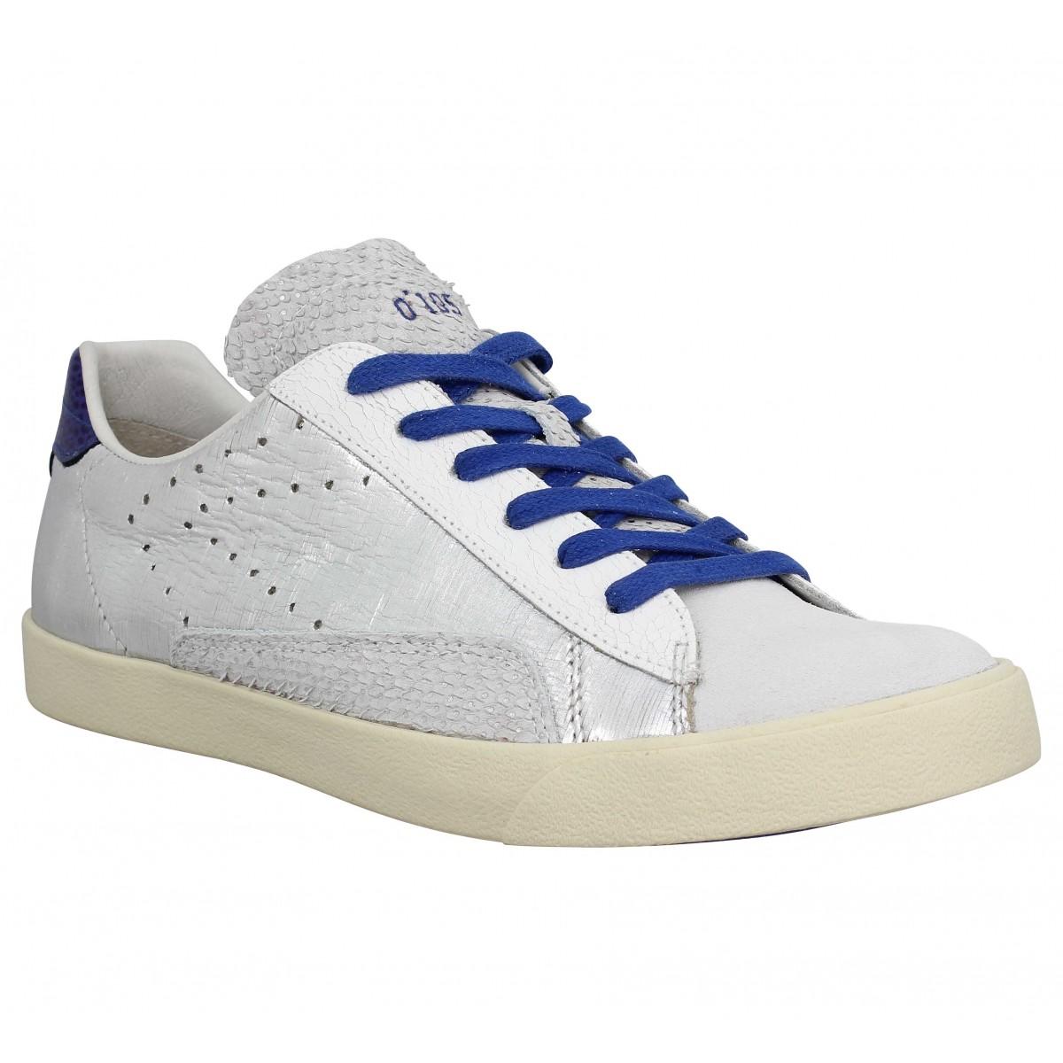 0 105 stan chris chris stan cuir femme Argent Bleu femme Fanny chaussures 844977