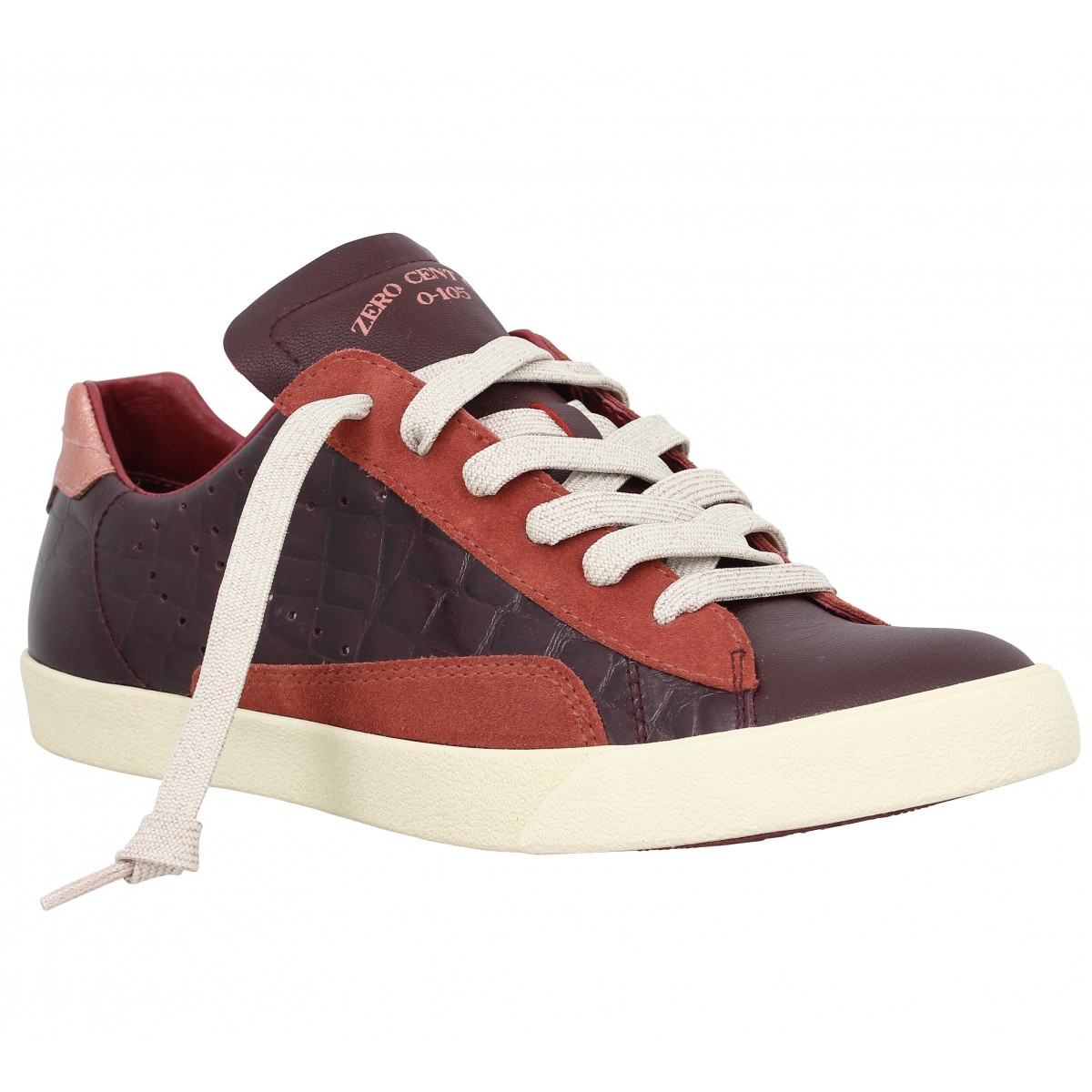 Baskets 0-105 Stan Chris Djessie cuir Femme Bordeaux