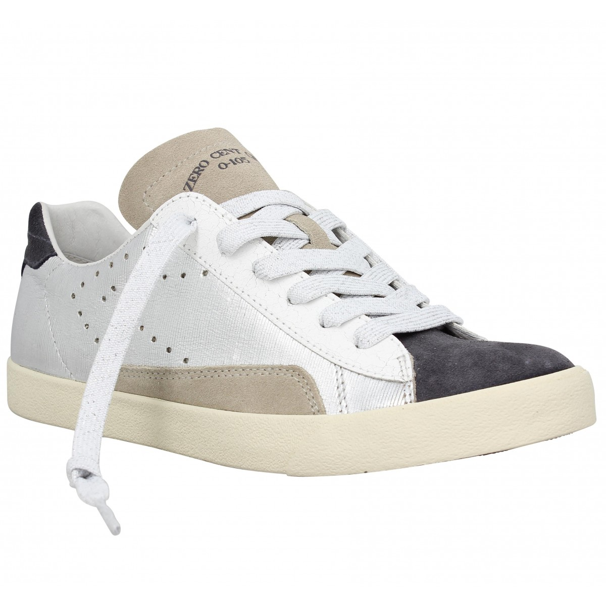 Baskets 0-105 Stan Chris Dodie cuir Femme Metal