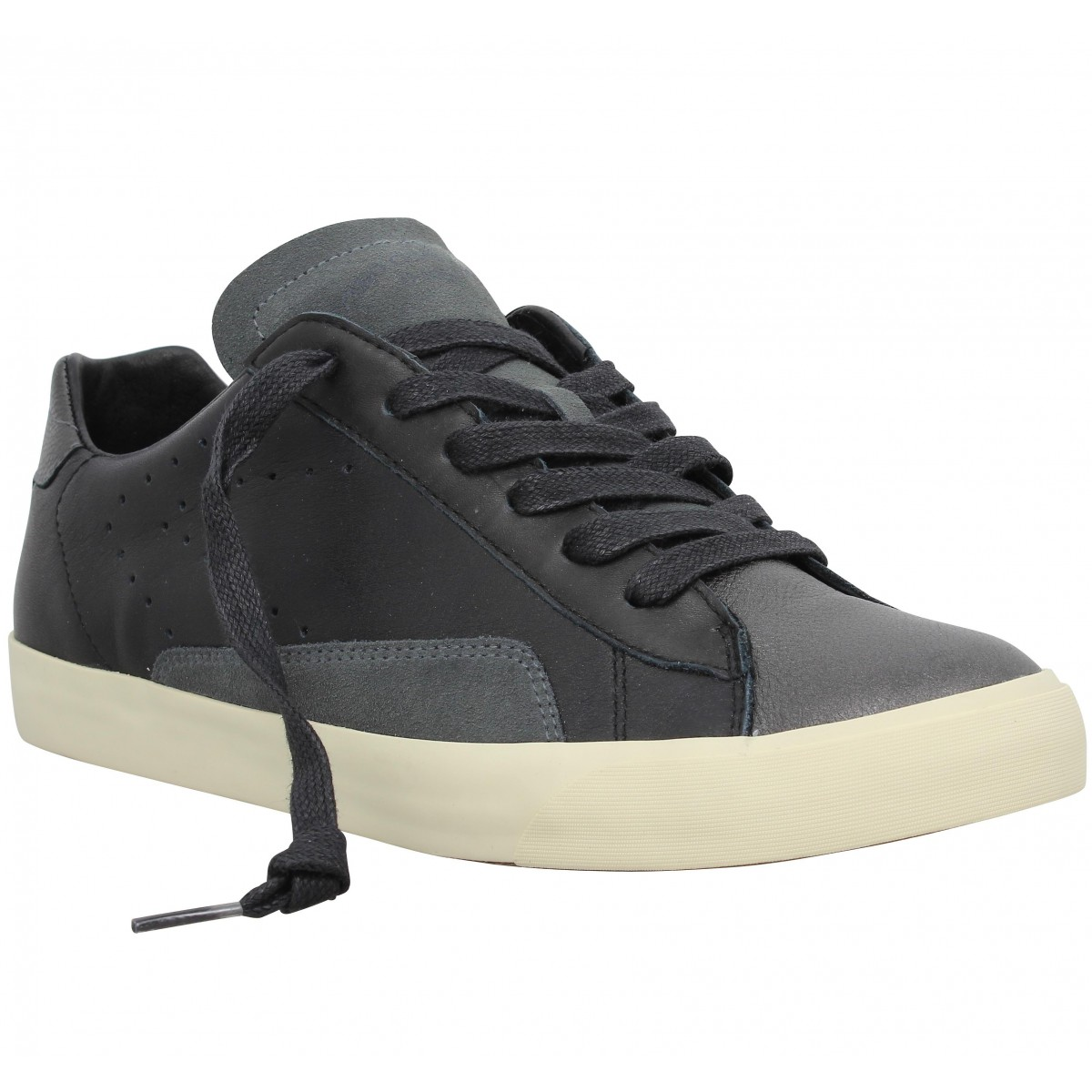 Baskets 0-105 Stan Clay cuir Homme Noir