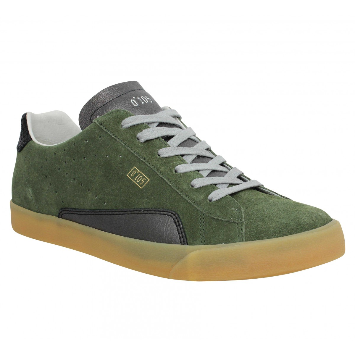 Baskets 0-105 Stan Clay velours Homme Vert