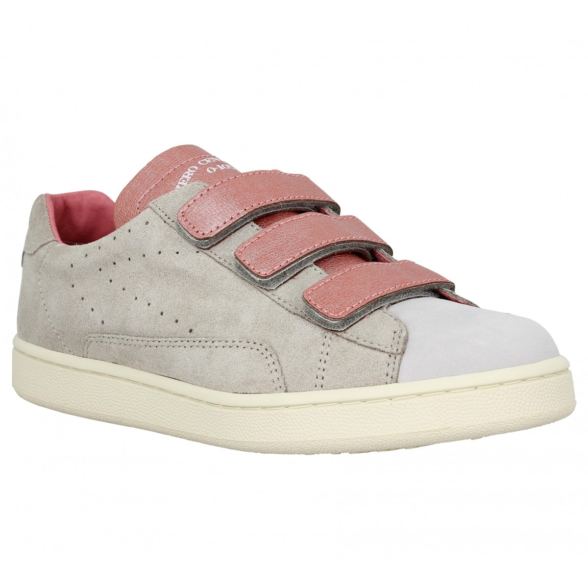 Baskets 0-105 Stan Scratch Arielle cuir Femme Gris Star