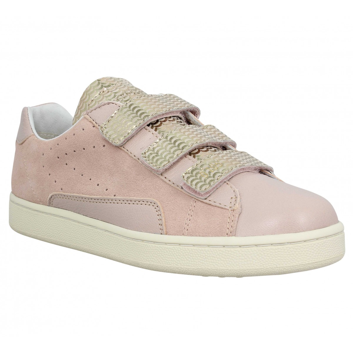 Baskets 0-105 Stan Scratch velours Femme Rose