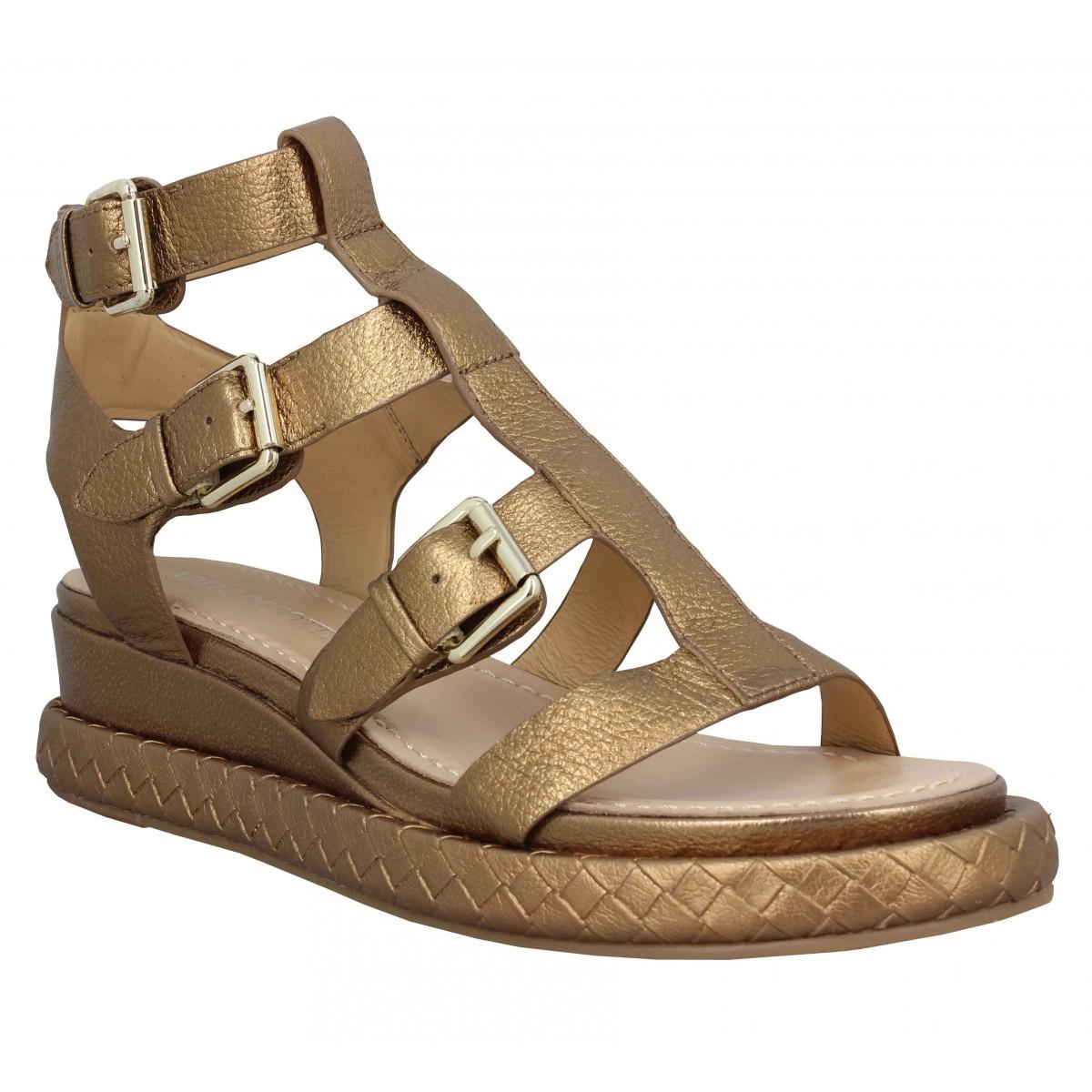 Nu-pieds ADELE DEZOTTI 323 cuir Femme Bronze