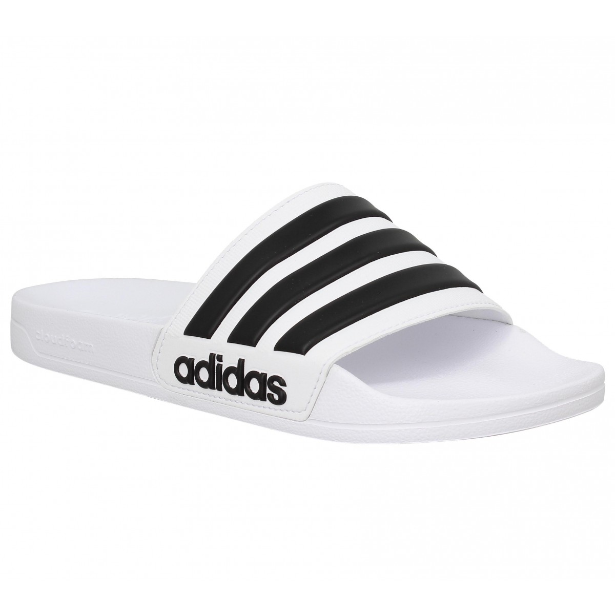 info for dca5b 12663 Tongs ADIDAS Adilette caoutchouc Homme Blanc