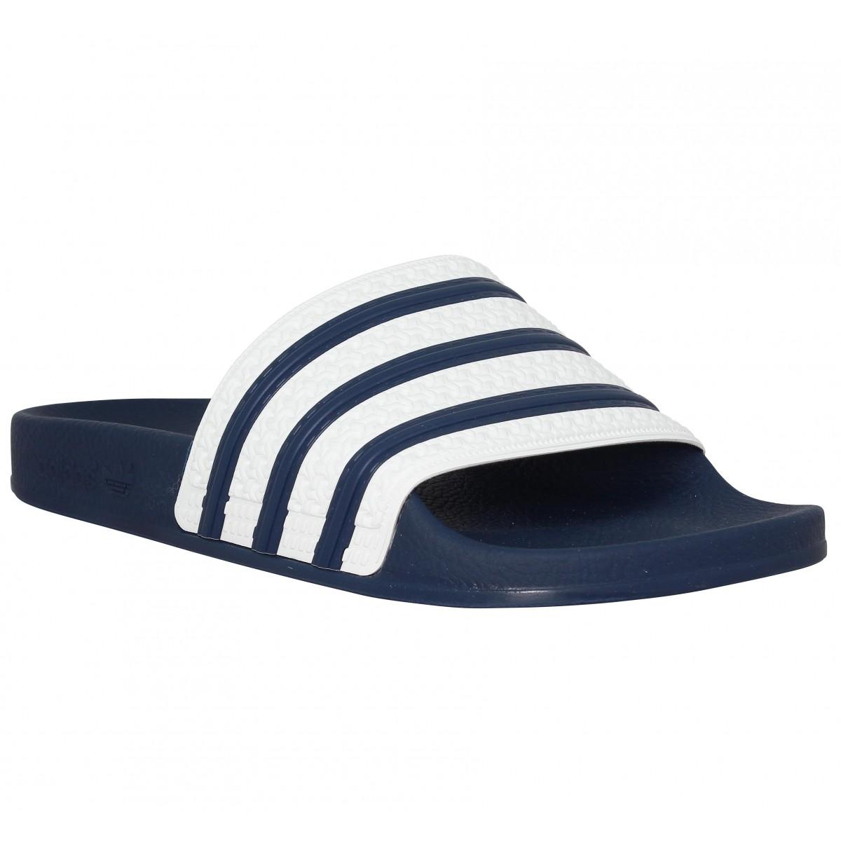 Adidas Marque Adilette Femme-39-bleu