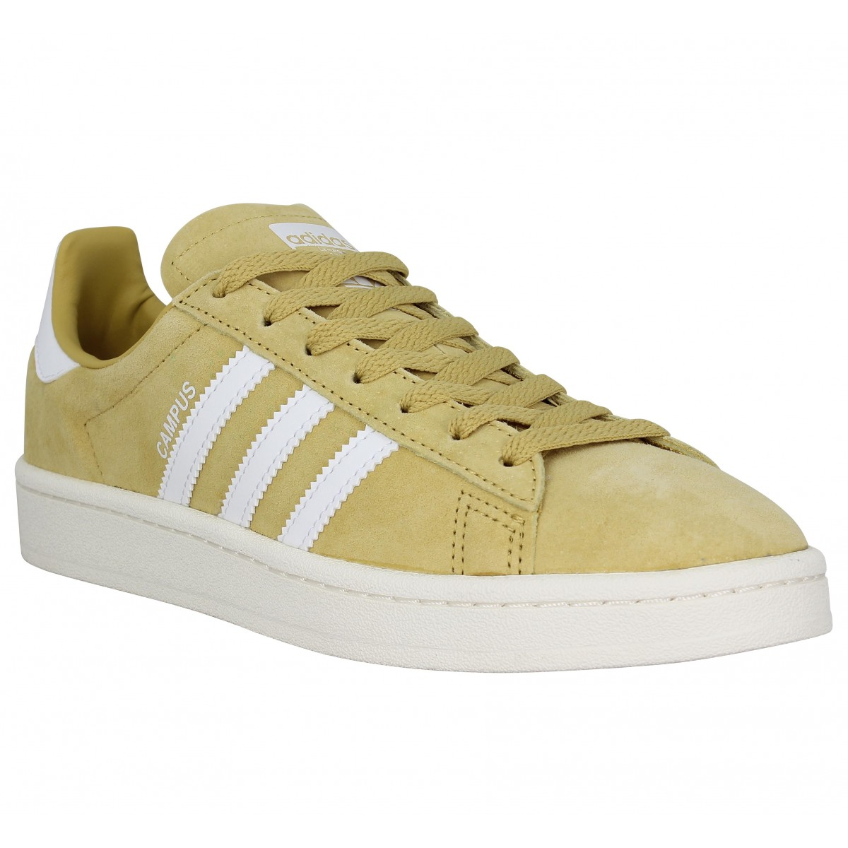 Baskets ADIDAS Campus velours Pyrite
