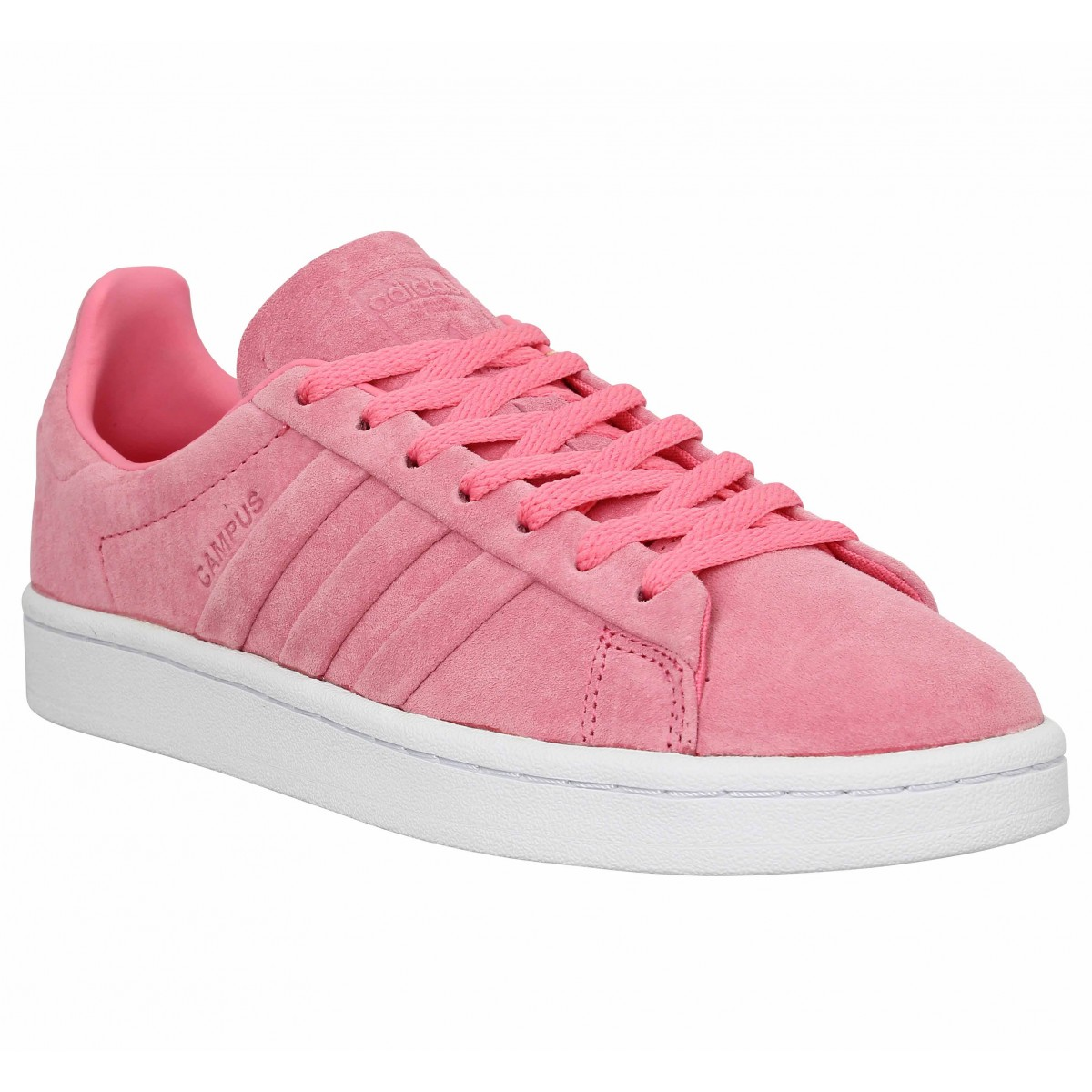 size 40 db906 566f2 Baskets ADIDAS Campus velours Femme Pink