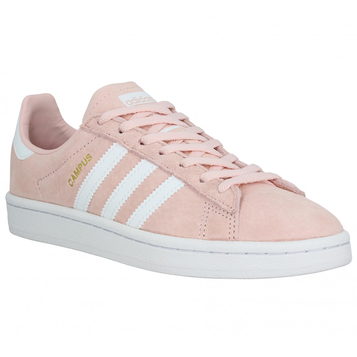 Baskets ADIDAS Campus velours Femme Rose