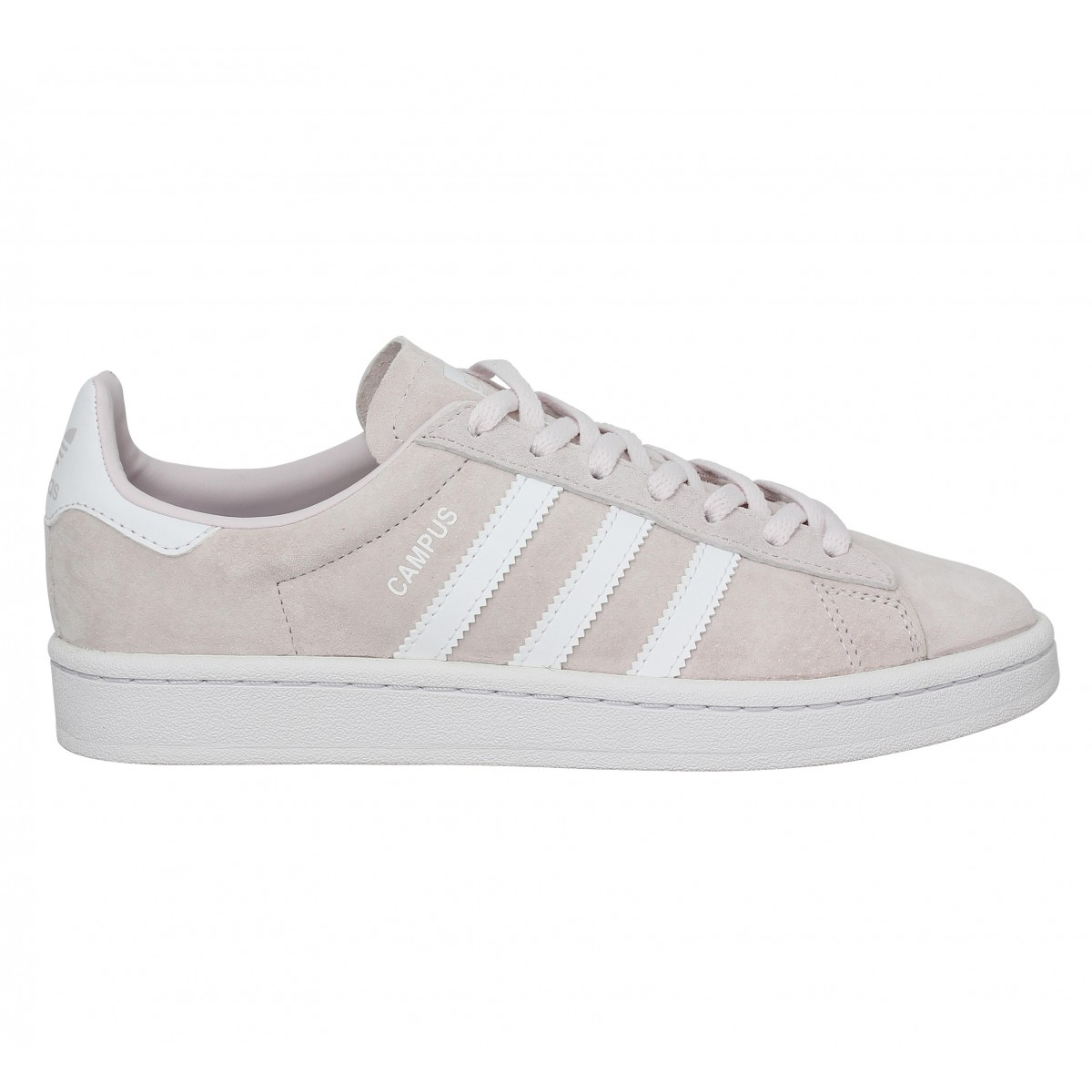 ADIDAS Campus velours Femme Rose Pale