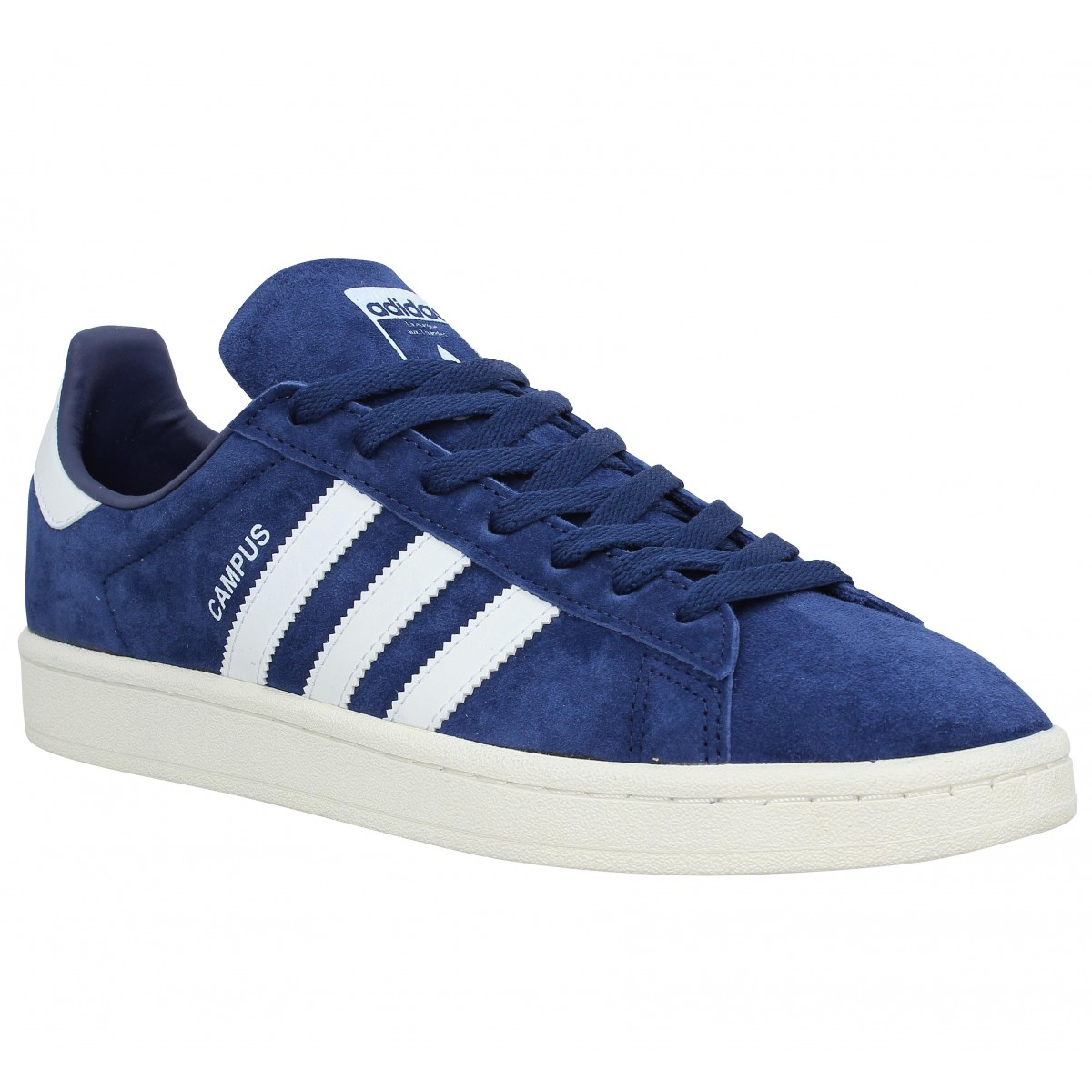 Baskets ADIDAS Campus velours Homme Marine