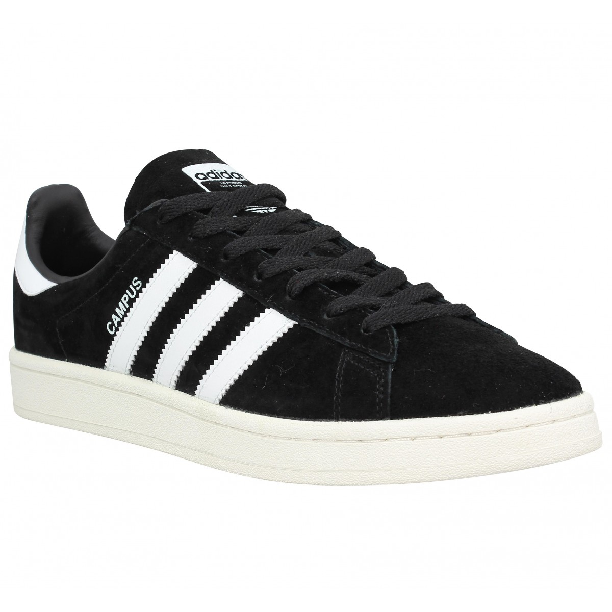 Baskets ADIDAS Campus velours Homme Noir