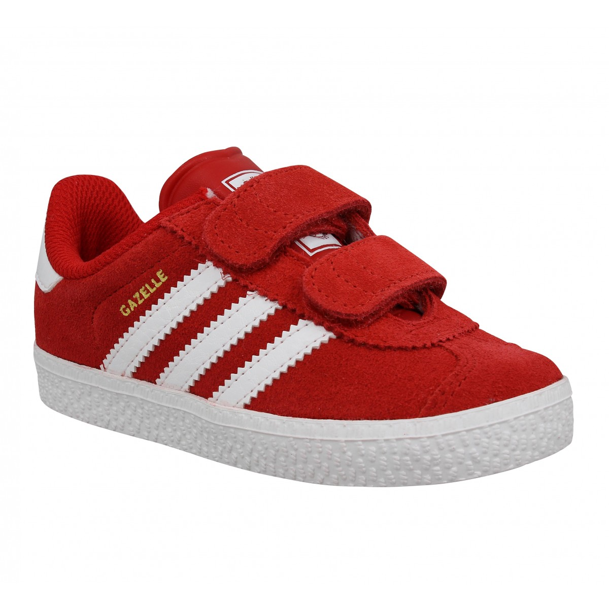Baskets ADIDAS Gazelle 2 velcro Enfant Rouge