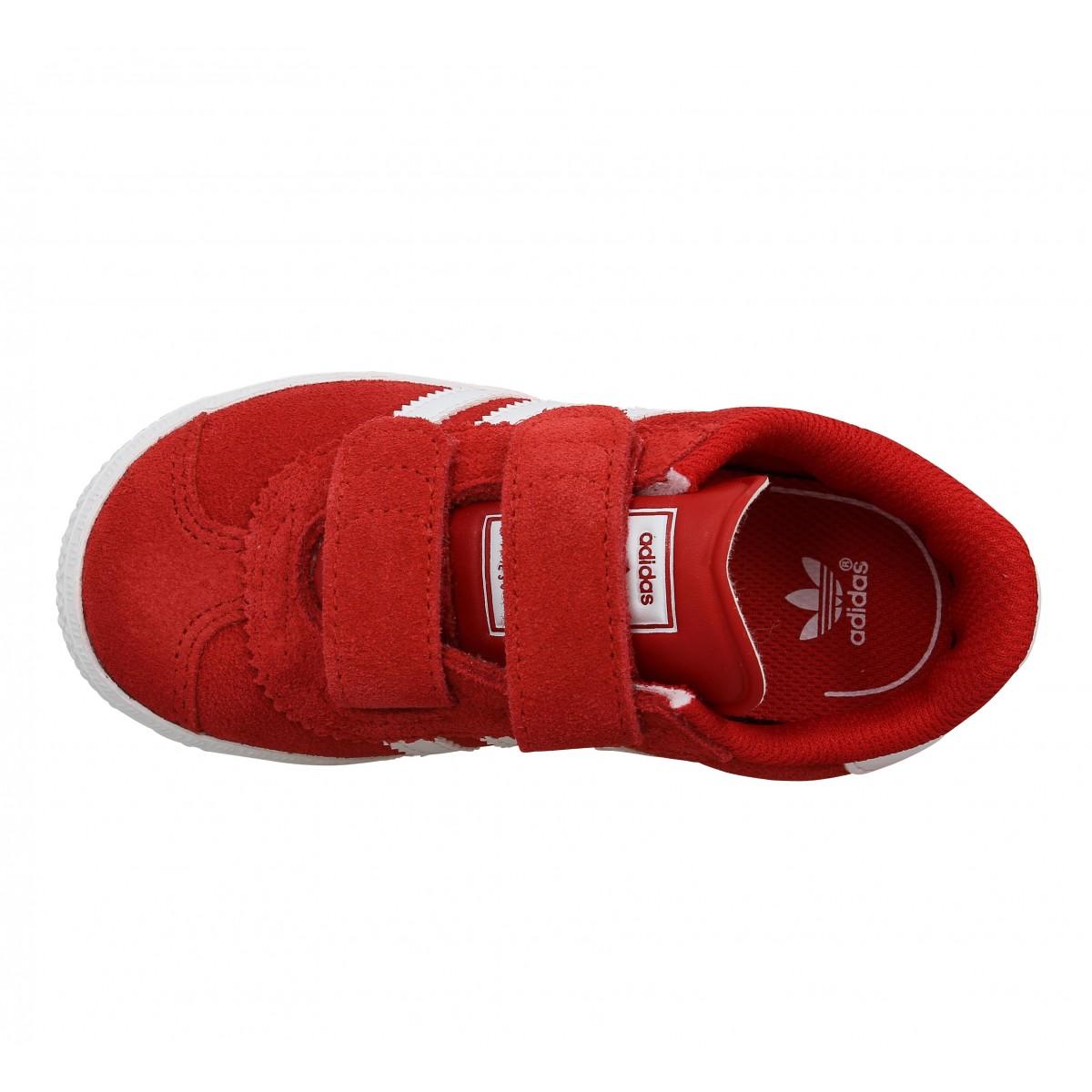 adidas gazelle enfants rouge