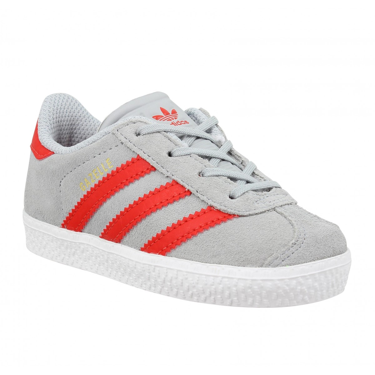 Baskets ADIDAS Gazelle Enfant Gris Rouge