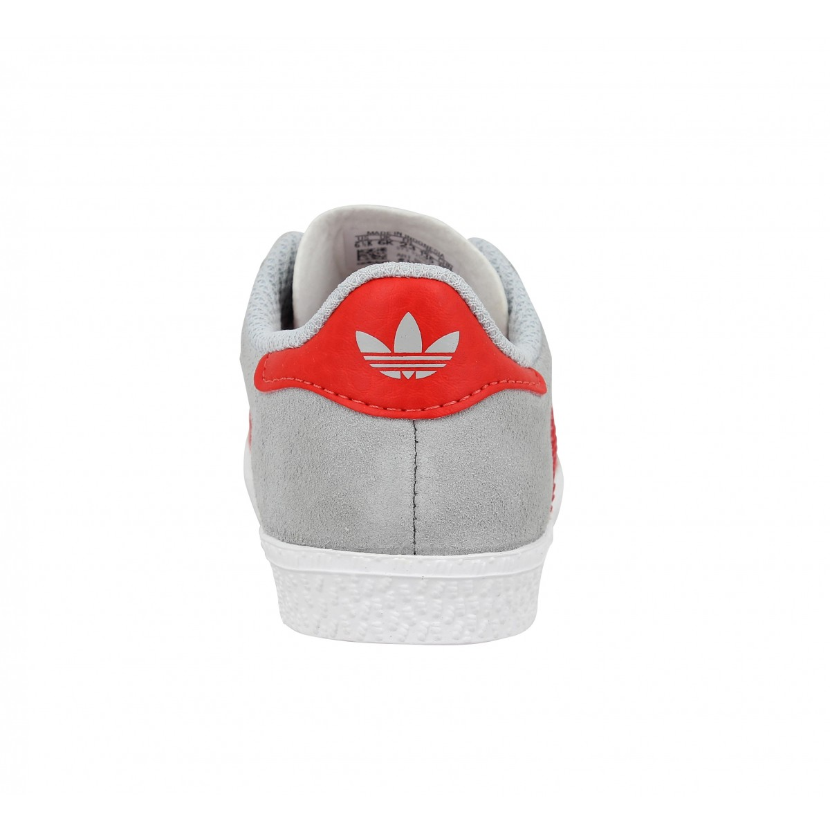 pretty nice dc9a7 aa7d9 Baskets ADIDAS Gazelle Enfant Gris Rouge. 1