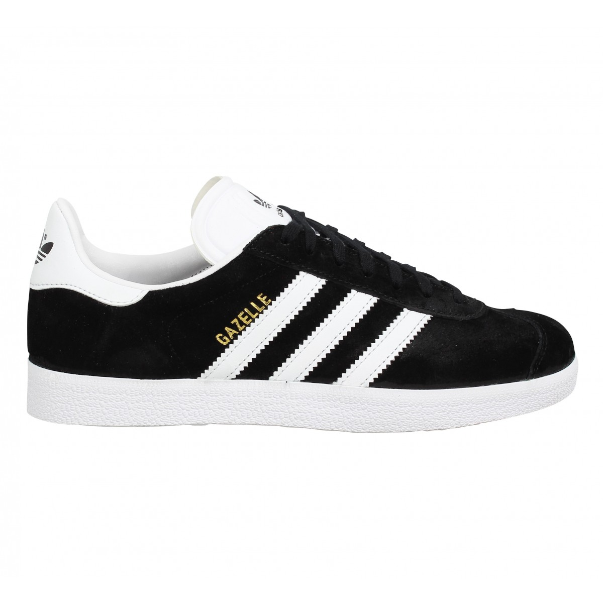 adidas gazelle velours femme noir blanc fanny chaussures. Black Bedroom Furniture Sets. Home Design Ideas