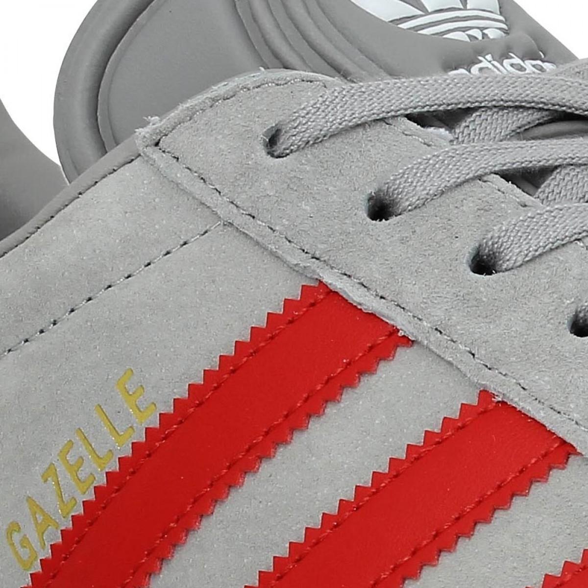 adidas gazelle homme gris rouge