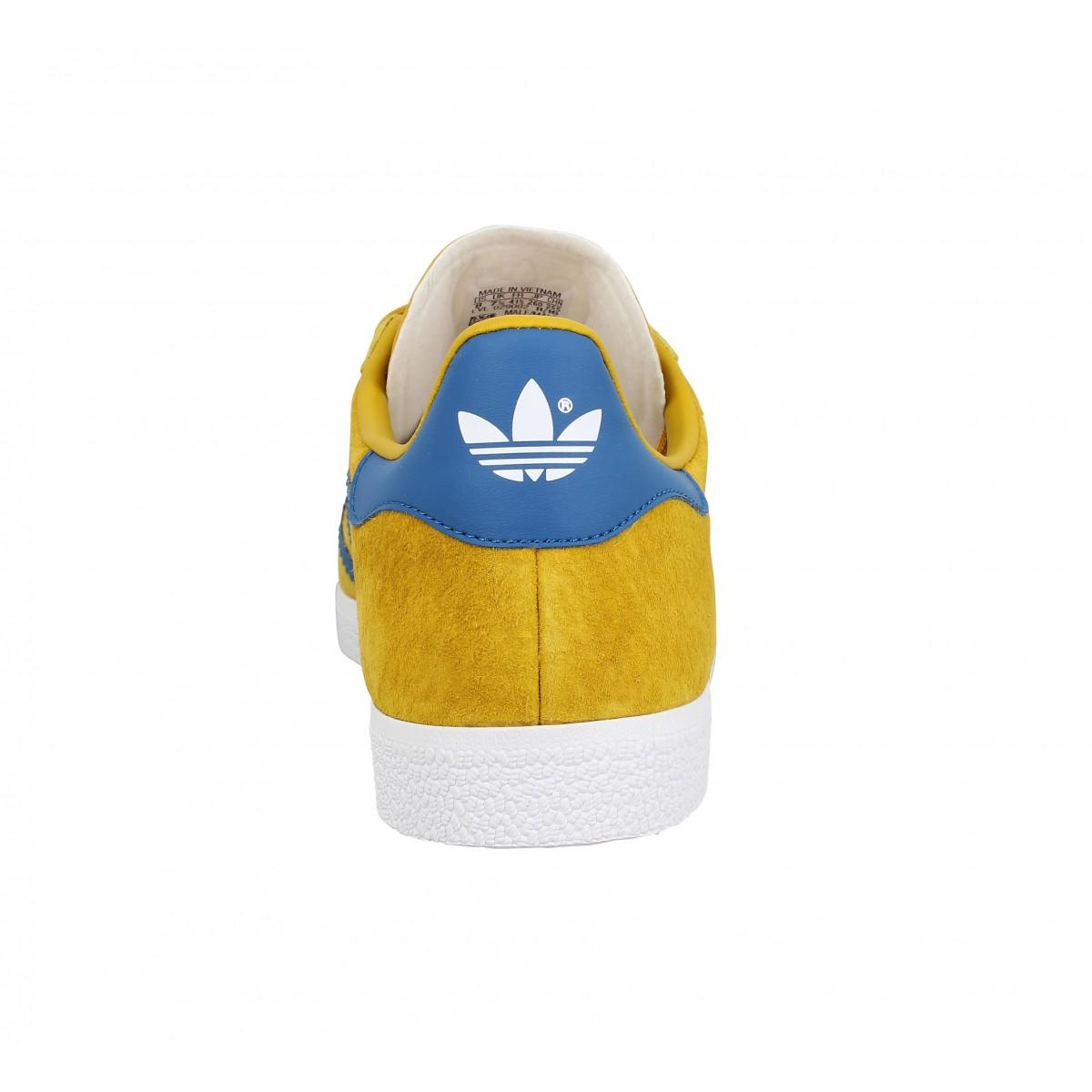 adidas gazelle jaune bleu