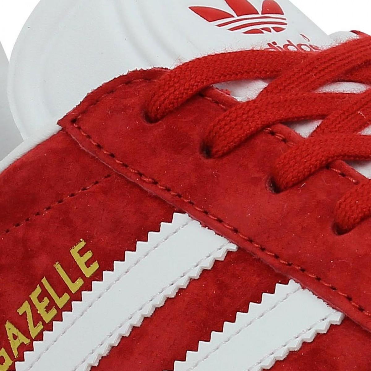 adidas gazelle femme rouge et blanc