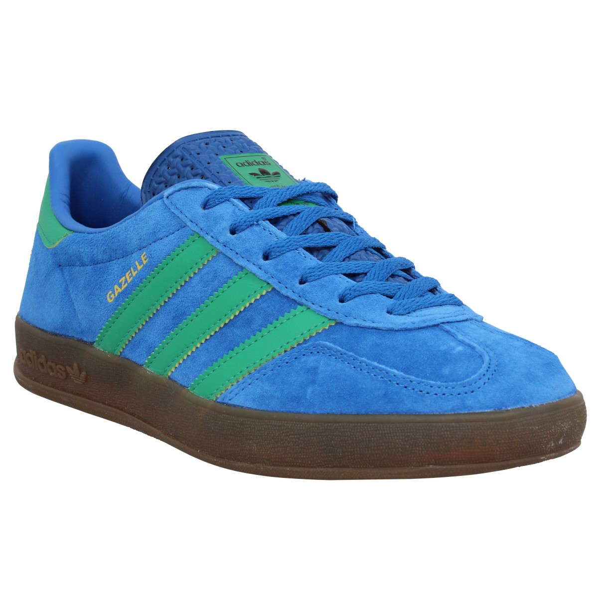 Adidas Gazelle Indoor Velours Homme Bleu Homme Fanny Chaussures