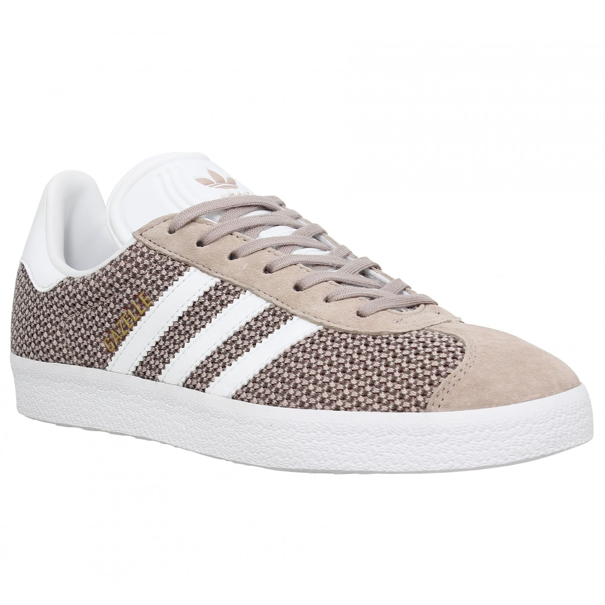 Baskets ADIDAS Gazelle knit Femme Grey