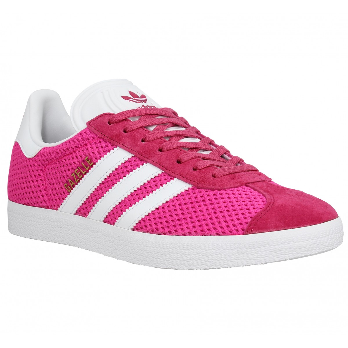 Baskets ADIDAS Gazelle knit Femme Rose