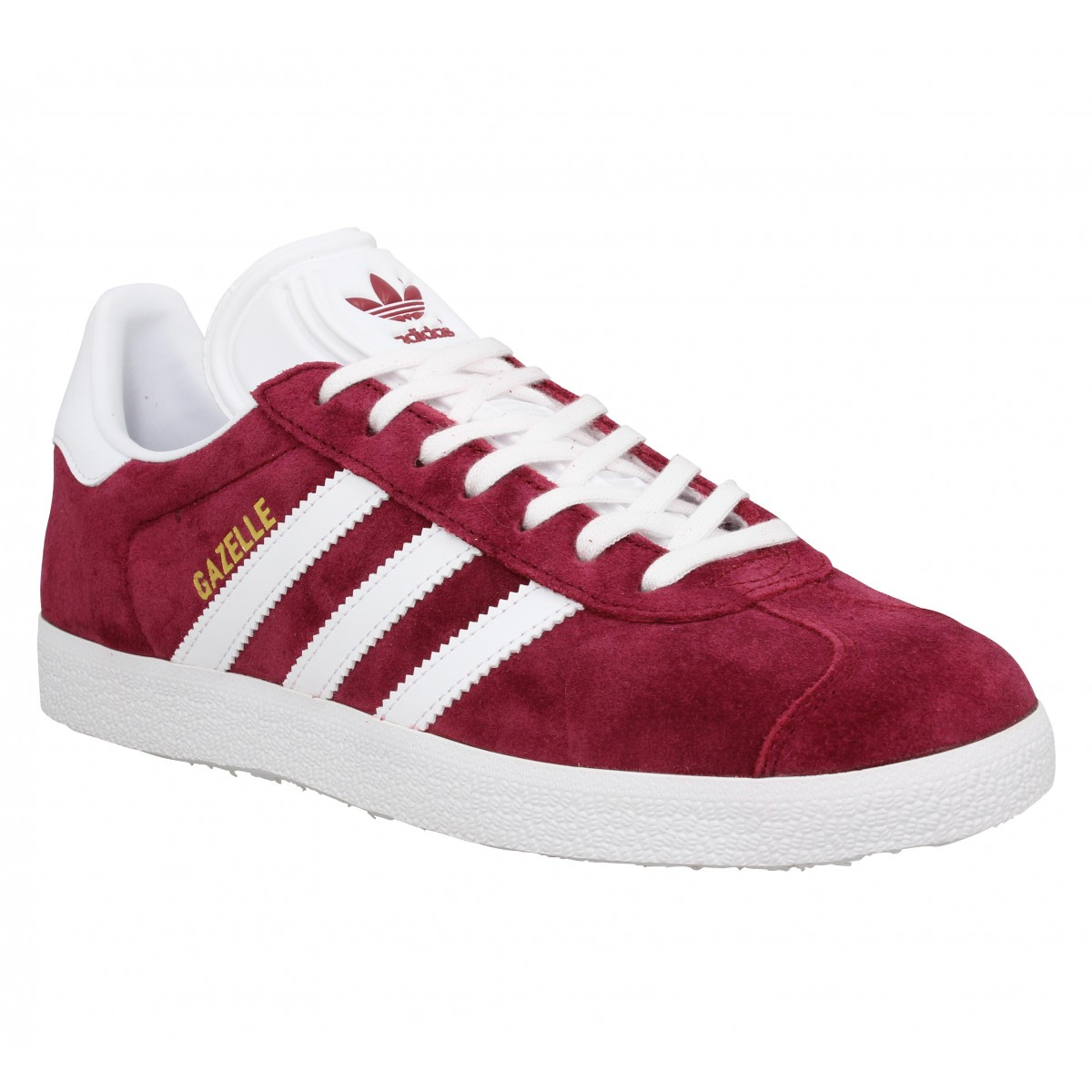 Baskets ADIDAS Gazelle velours Burgundy