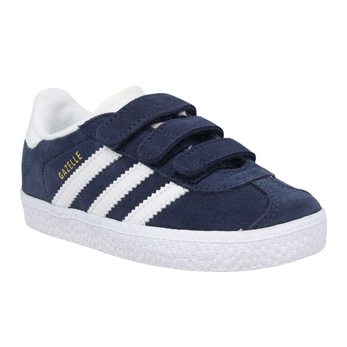 Baskets ADIDAS Gazelle velours Enfant Marine