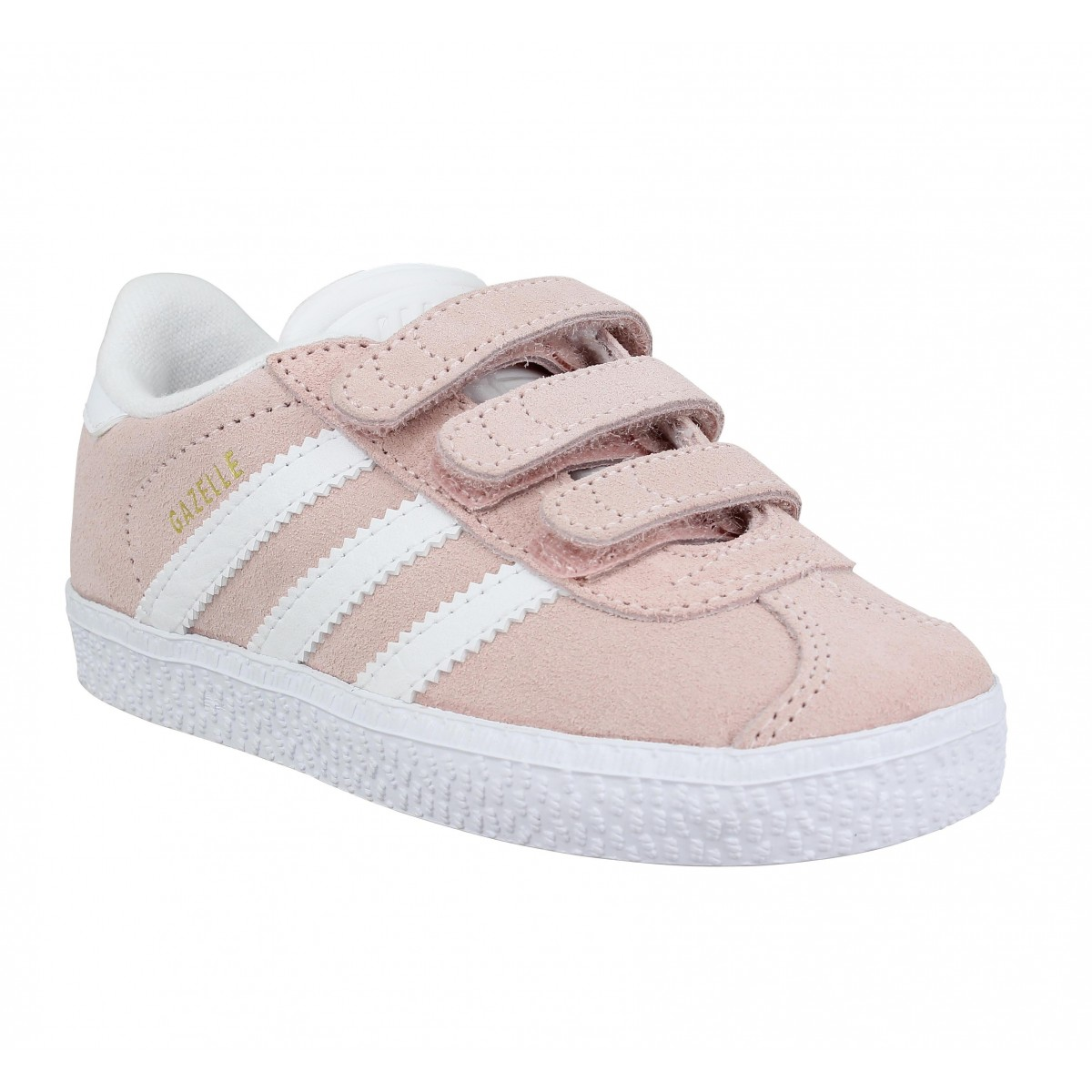 Baskets ADIDAS Gazelle velours Enfant Rose
