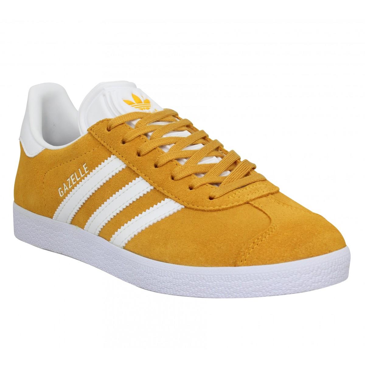 Adidas Femme Gazelle Velours -36-jaune...