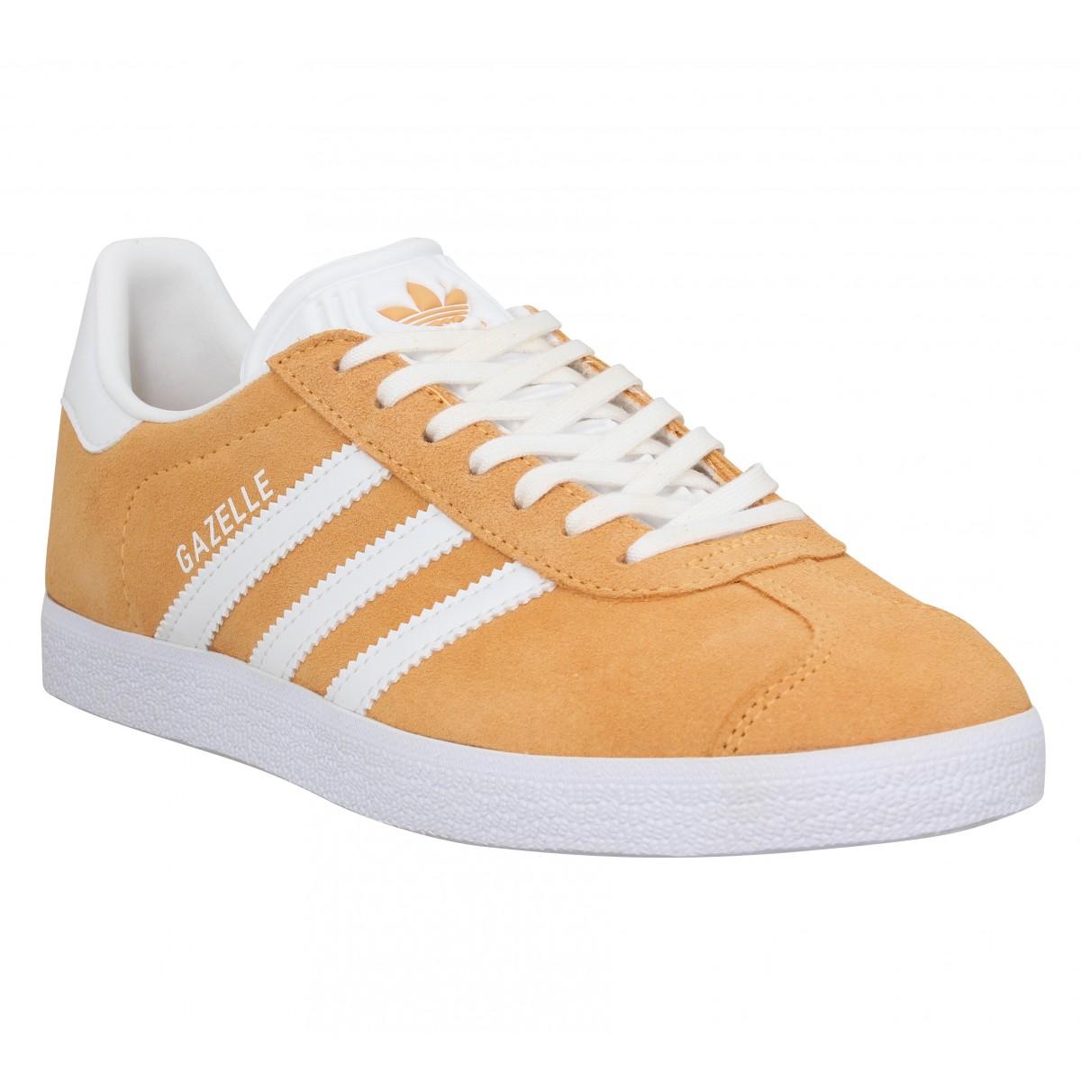 Adidas Femme Gazelle Velours -36-orange...