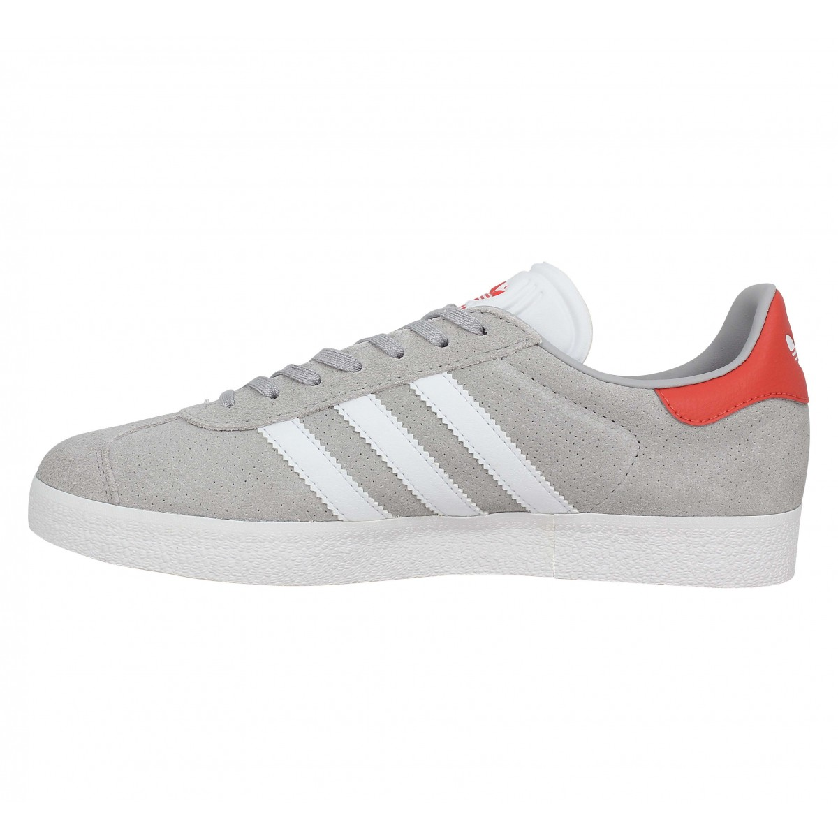 Chaussures Adidas gazelle velours homme gris rouge homme | Fanny ...