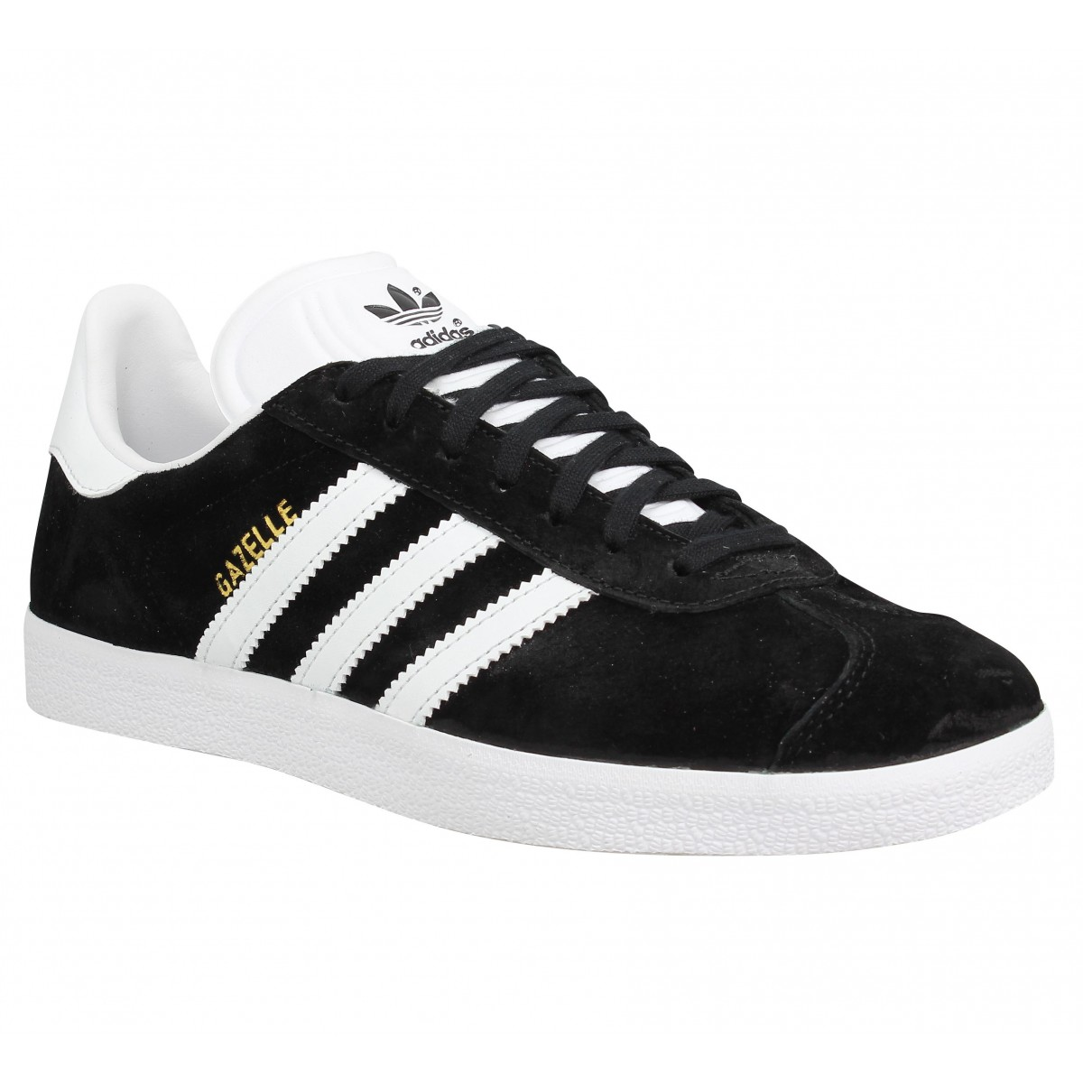 quite nice reasonable price usa cheap sale ADIDAS Gazelle velours Homme Noir + Blanc