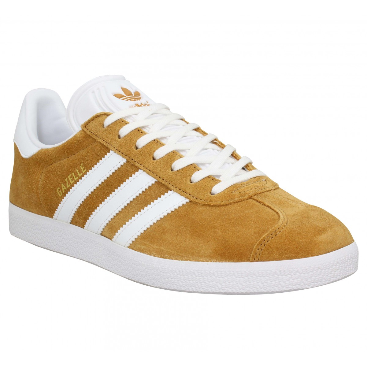 Baskets ADIDAS Gazelle velours Ocre