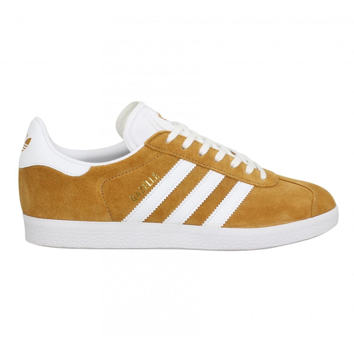 Chaussures Adidas gazelle velours ocre femme homme | Fanny chaussures