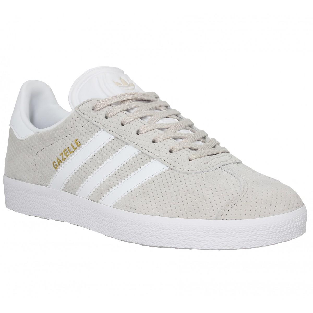 Adidas Marque Gazelle Velours Perfo...