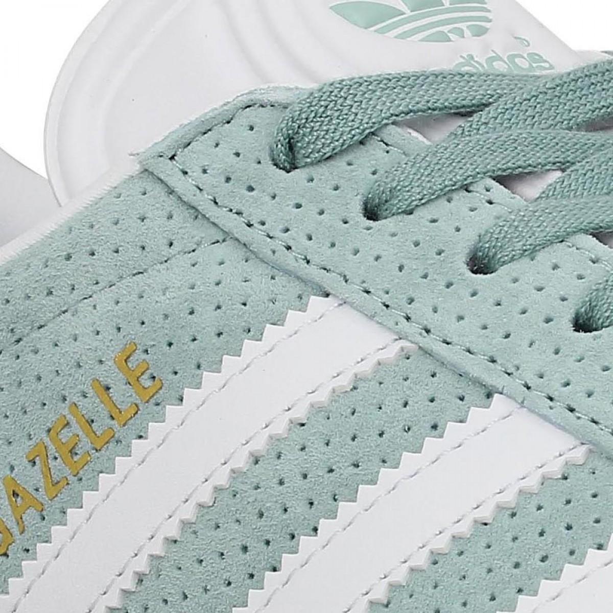 Chaussures Adidas gazelle velours perfo femme vert femme   Fanny ...