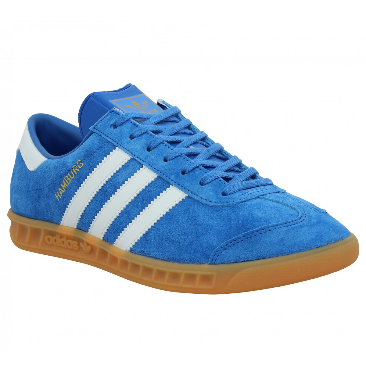 Baskets ADIDAS Hamburg Bleu