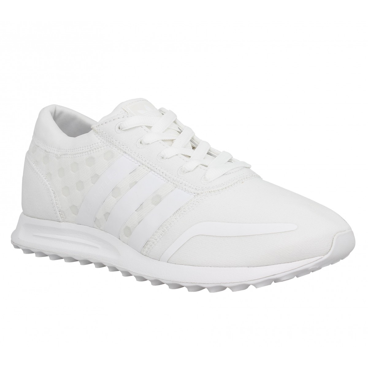 Baskets ADIDAS Los Angeles pois Blanc