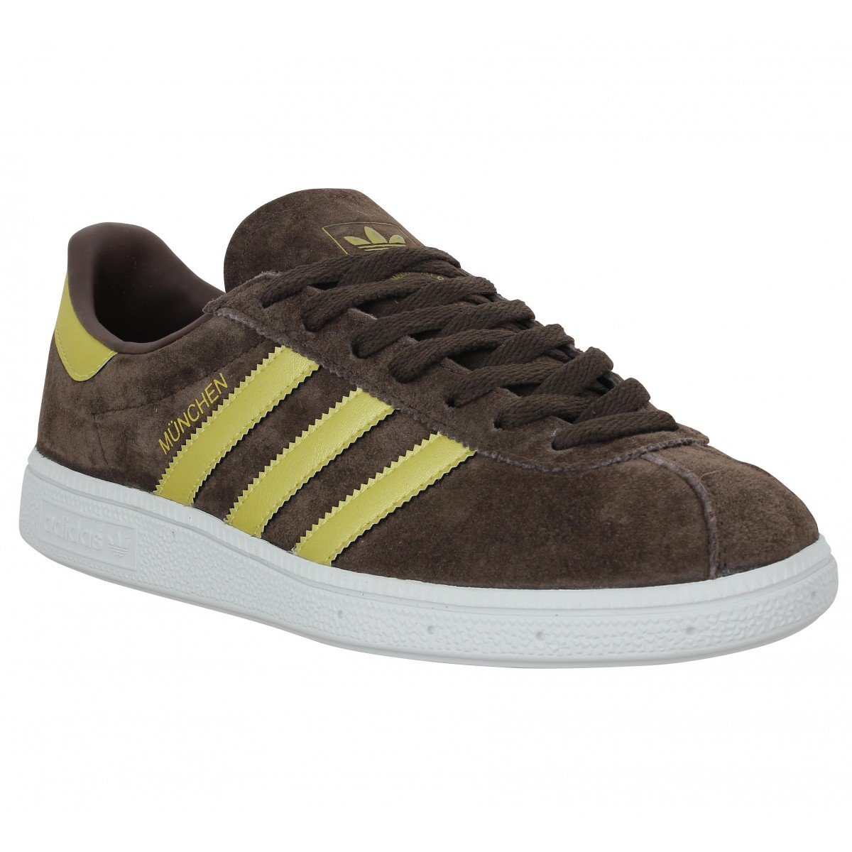 Baskets ADIDAS Munchen velours Homme Marron