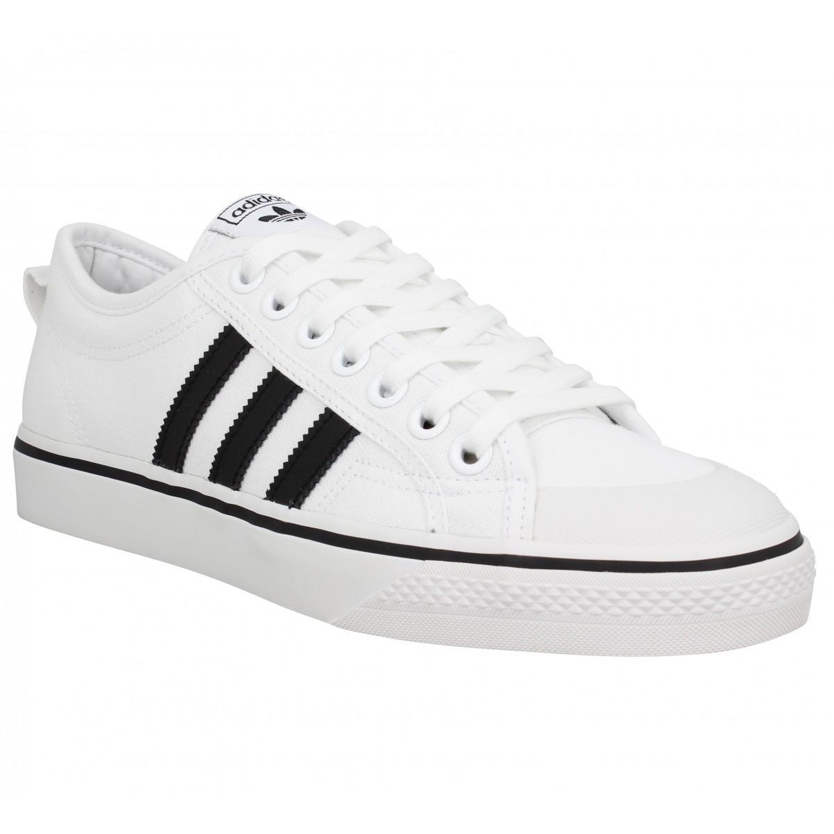 Adidas Homme Nizza Toile -40-blanc