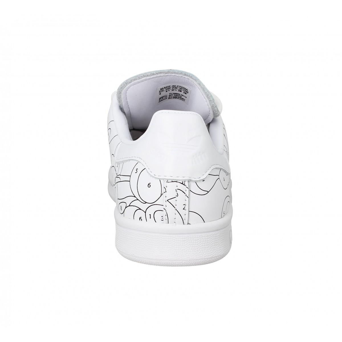 Adidas x rita ora stan smith blanc femme | Fanny chaussures