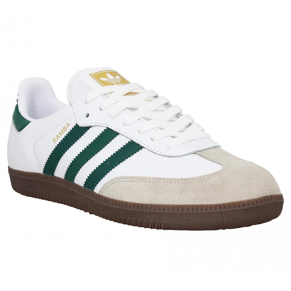 Adidas Homme Samba Og Cuir -40-blanc