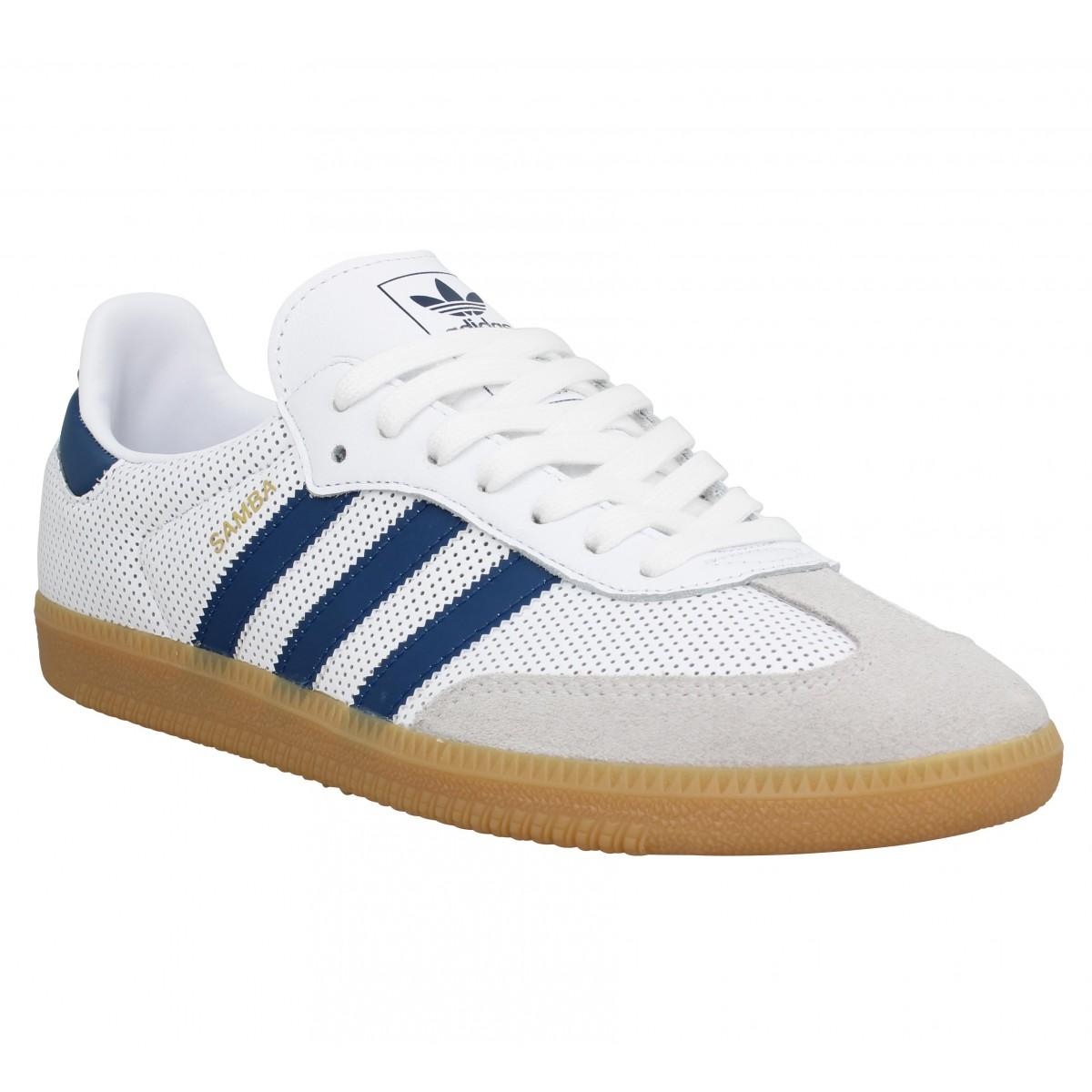 Adidas Homme Samba Og Cuir -40-blanc...