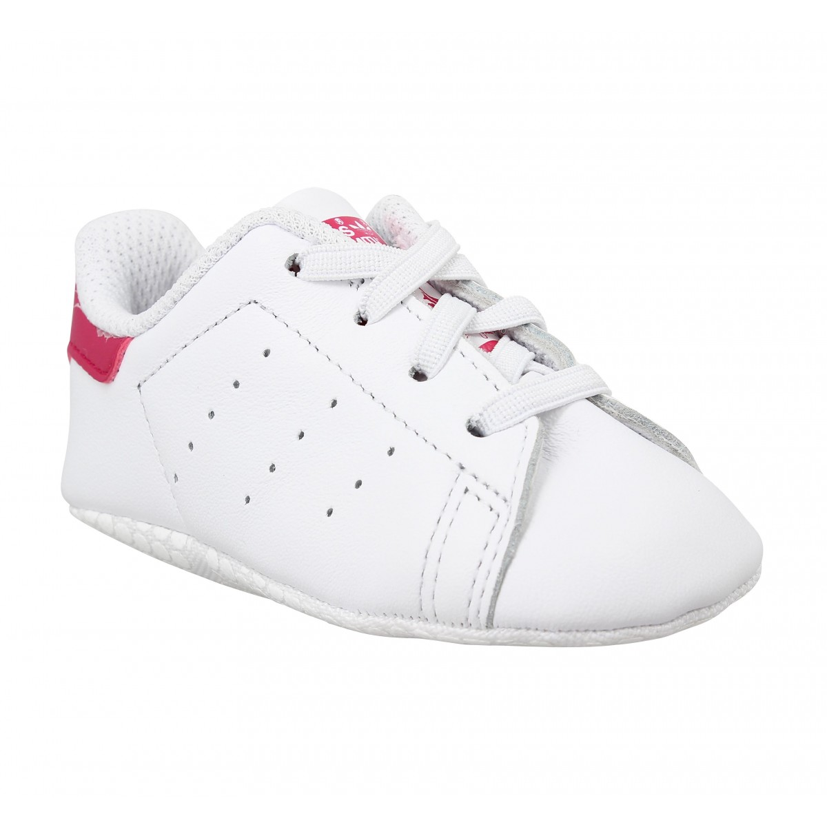 Baskets ADIDAS Stan Smith Crib Blanc Rose